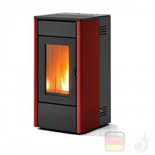 MCZ Pelletöfen serie Amy Air 6.3 kW metal Bordeaux 7116003S Fernbedienung A+ MCZ-7116003S-