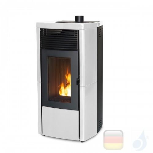 MCZ Pelletöfen serie Star Comfort Air 10 M1 10.0 kW keramik Weiß 7116039M Maestro-Fernbedienung mit Raumthermostat A+ MCZ-711...