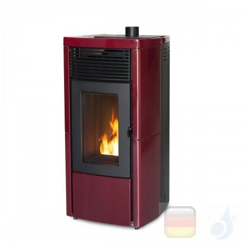 MCZ Hydro Pelletöfen serie Star Hydromatic 12 M1 11.9 kW keramik Bordeaux 7119025 Maestro-Fernbedienung mit Raumthermostat A+...