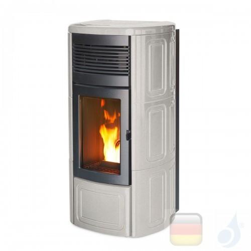 MCZ Pelletöfen serie Suite Comfort Air 14 M1 13.9 kW keramik Salt and pepper 7116050M Maestro-Fernbedienung A+ MCZ-7116050M-6...