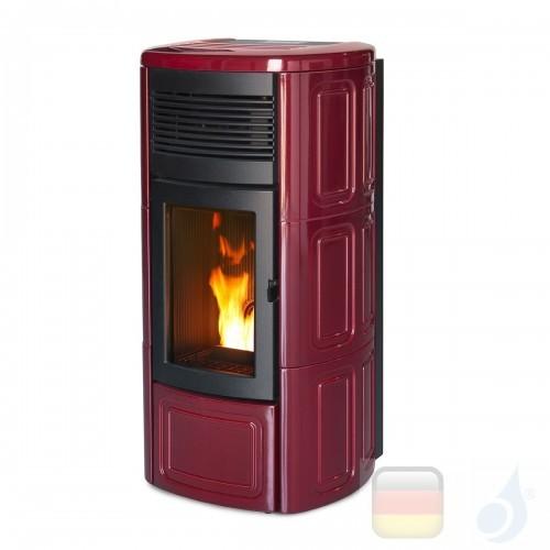 MCZ Hydro Pelletöfen serie Suite Hydromatic 16 M1 16.1 kW keramik Bordeaux 7119018 Maestro-Fernbedienung mit Raumthermostat A...