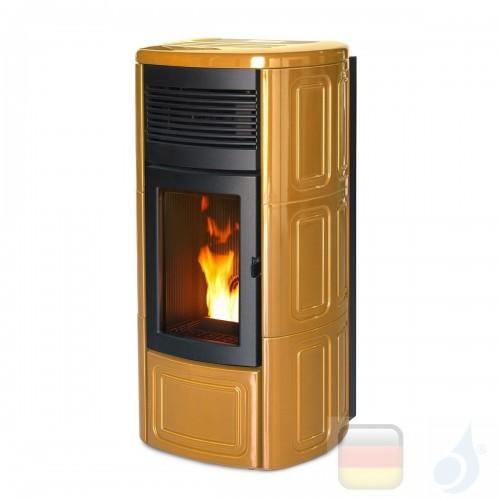 MCZ Hydro Pelletöfen serie Suite Hydromatic 24 M1 23.9 kW keramik Old Amber 7119019 Maestro-Fernbedienung mit Raumthermostat ...