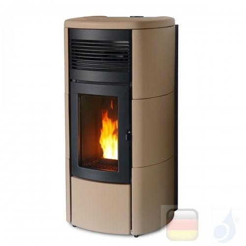 MCZ Pelletöfen serie Club Air 10 M1 10.0 kW keramik Sand 7116042M Maestro-Fernbedienung mit Raumthermostat A+ MCZ-7116042M-69...