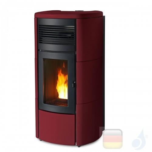 MCZ Hydro Pelletöfen serie Club Hydromatic 16 M1 16.1 kW keramik Bordeaux 7119018 Maestro-Fernbedienung mit Raumthermostat A+...