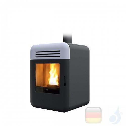 MCZ Pelletöfen serie Thema Air 8 M1 8.0 kW keramik Weiß 7119033 Maestro-Fernbedienung mit Raumthermostat A+ MCZ-7119033-6913006