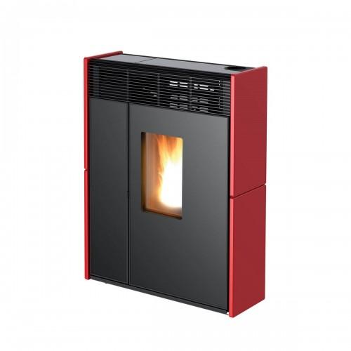 MCZ Pelletöfen serie Linea Comfort Air 9 UP! M1 8.8 kW keramik Bordeaux 7118014 Maestro-Fernbedienung mit Raumthermostat A+ M...