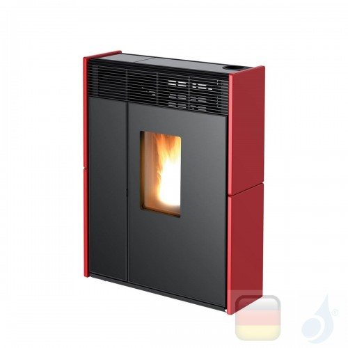 MCZ Pelletöfen serie Linea Comfort Air 9 M1 8.8 kW keramik Bordeaux 7118014 Maestro-Fernbedienung mit Raumthermostat A+ MCZ-7...