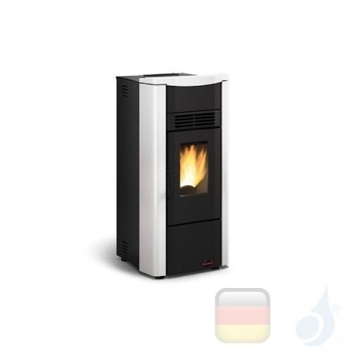 Nordica Extraflame Pelletöfen serie Giusy Evo 7.0 kW keramik Weiß 1280506 mit Wochenprogrammierer A+ Nord-Extra-1280506