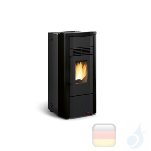 Nordica Extraflame Pelletöfen serie Giusy Evo 7.0 kW keramik Schwarz 1280507 mit Wochenprogrammierer A+ Nord-Extra-1280507