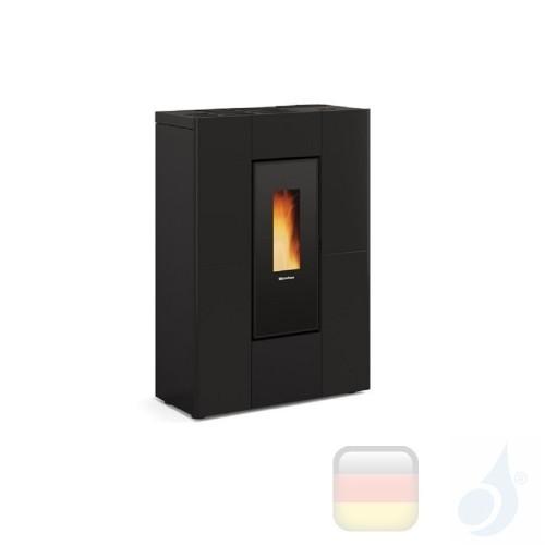 Nordica Extraflame Pelletöfen Marilena Plus AD 8.0 kW metal Schwarz mit Fernbedienung und wöchentlichem Chronothermostat A+ N...