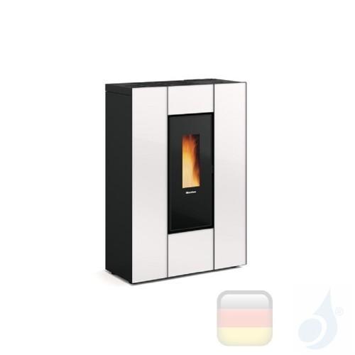Nordica Extraflame Pelletöfen Marilena Plus AD 8.0 kW glas Weiß mit Fernbedienung und wöchentlichem Chronothermostat A+ Nord-...