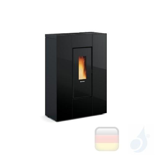 Nordica Extraflame Pelletöfen Marilena Plus AD 8.0 kW glas Schwarz mit Fernbedienung und wöchentlichem Chronothermostat A+ No...