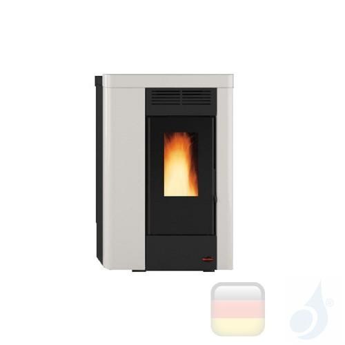 Nordica Extraflame Pelletöfen serie Annabella 8.0 kW metal Weiß 1280101 mit Fernbedienung und wöchentlichem Chronothermostat ...