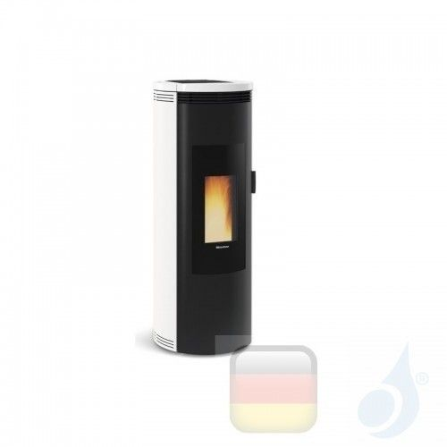Nordica Extraflame Pelletöfen Amika 8.0 kW keramik Weiß 1283501 A+ Nord-Extra-1283501