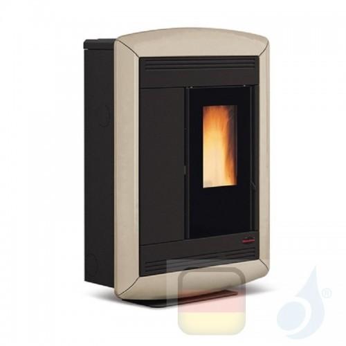 Nordica Extraflame Pelletöfen serie Souvenir Lux 10.2 kW keramik Tortora 1275705 mit Fernbedienung und Chronothermostat A+ No...