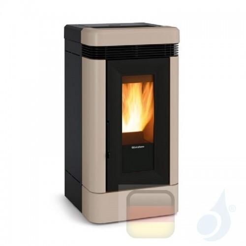 Nordica Extraflame Pelletöfen serie Lucia Plus 12.0 kW keramik Tortora 1283252 mit Fernbedienung und Chronothermostat A+ Nord...