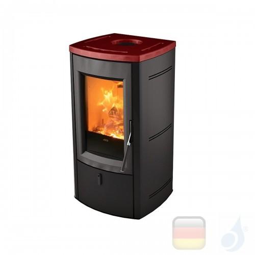 MCZ Holzöfen serie Nogal 7.0 kW keramik Bordeaux 7111205 A+ MCZ-7111205-6911019