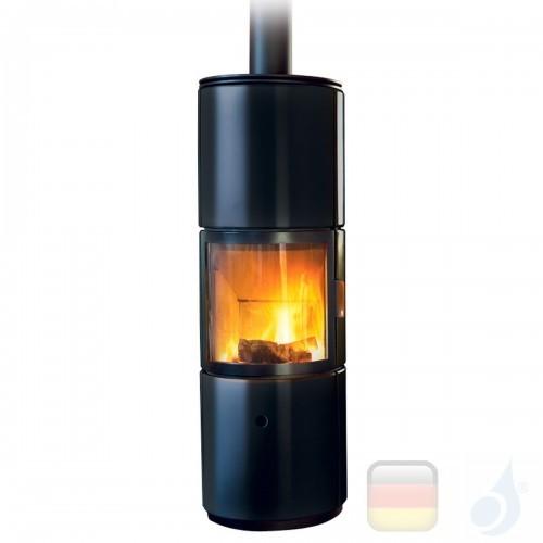 MCZ Holzöfen serie Stub Overnight 7.2 kW keramik Schwarz 7112203 A+ mit nicht leitungsgebundener Verbrennungsluft MCZ-7112203...