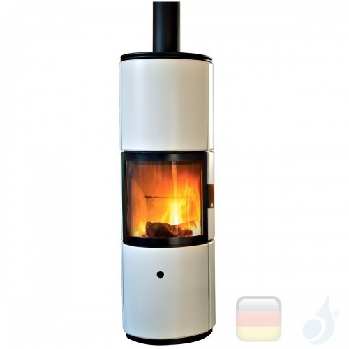 MCZ Holzöfen serie Stub Overnight 7.2 kW keramik Schwarz 7112203 A+ mit hinterer leitbarer Verbrennungsluft MCZ-7112203-6912005