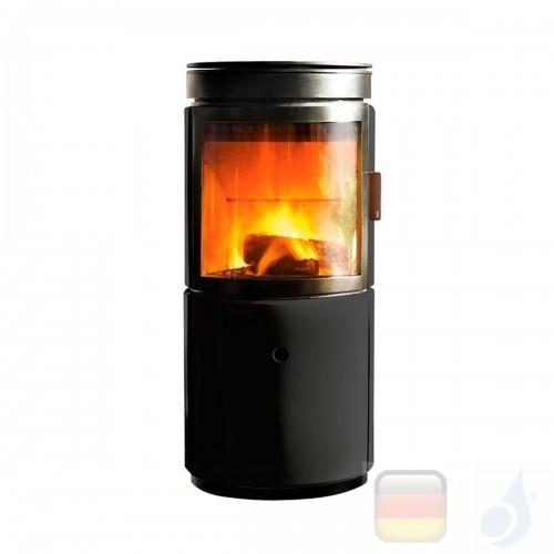 MCZ Holzöfen serie Stub 7.2 kW keramik Schwarz 7112203 A+ oberer Rauchauslass und nicht leitungsgebundene Verbrennungsluft MC...
