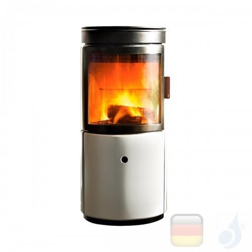 MCZ Holzöfen serie Stub 7.2 kW keramik Weiß 7112203 A+ Rauchauslass hinten und Möglichkeit der Luftführung MCZ-7112203-6912024