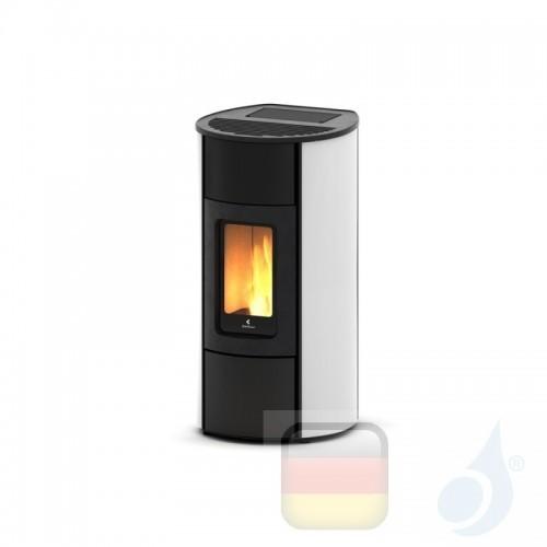 Ravelli Pelletofen Flexi 9 Glass 8.3 kW WiFi Beschichtungstyp glass Weiß A+ Ductable Belüftet Natürliche Konvektion Ravelli-9...
