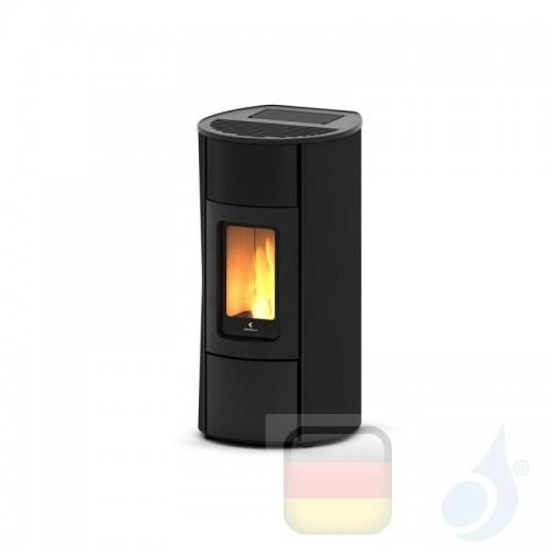 Ravelli Pelletofen Flexi 9 Glass 8.3 kW WiFi Beschichtungstyp glass Schwarz A+ Ductable Belüftet Natürliche Konvektion Ravell...