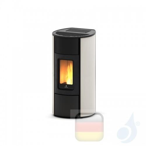 Ravelli Pelletofen Flexi 9 Steel 8.3 kW WiFi Beschichtungstyp metal Weiß A+ Ductable Belüftet Natürliche Konvektion Ravelli-9...