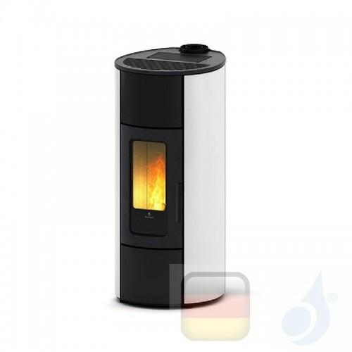 Ravelli Pelletofen Flexi 11 Glass 10.2 kW WiFi Beschichtungstyp glass Weiß A++ Ductable Belüftet Natürliche Konvektion Ravell...
