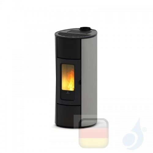 Ravelli Pelletofen Flexi 11 Glass 10.2 kW WiFi Beschichtungstyp glass Silber A++ Ductable Belüftet Natürliche Konvektion Rave...