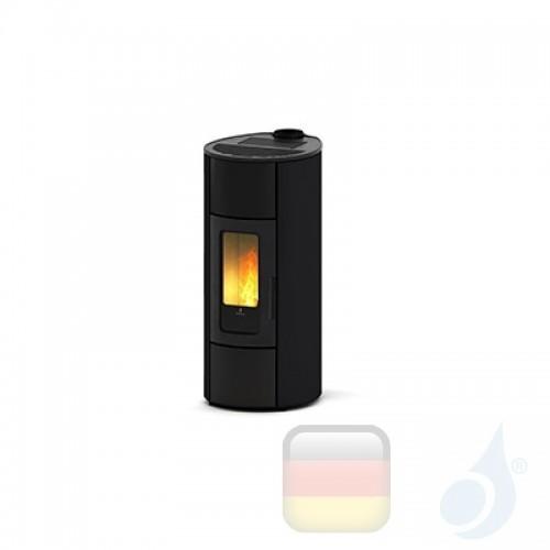 Ravelli Pelletofen Flexi 11 Steel 10.2 kW WiFi Beschichtungstyp metal Schwarz A++ Ductable Belüftet Natürliche Konvektion Rav...