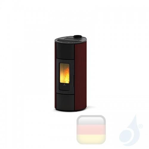 Ravelli Pelletofen Flexi 11 Steel 10.2 kW WiFi Beschichtungstyp metal Bordeaux A++ Ductable Belüftet Natürliche Konvektion Ra...