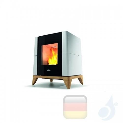Ravelli Pelletofen Aria 5.3 kW Beschichtungstyp keramic Weiß A+ Natürliche Konvektion Ravelli-010-KIT-BCO