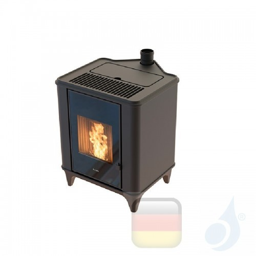 Ravelli Pelletofen Luna 5.3 kW Beschichtungstyp keramic Schwarz A+ Belüftet Ravelli-20038BR01-BLK