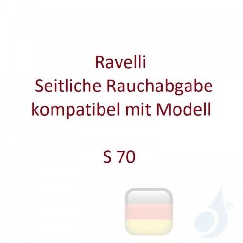 Ravelli Seitliche Rauchabgabe kompatibel mit Modell S 70 Artikelnummer K0051AR00 Ravelli-K0051AR00
