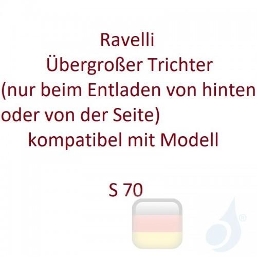 Ravelli Übergroßer Trichter (nur beim Entladen von hinten oder von der Seite) kompatibel mit Modell S 70 Artikelnummer K0052A...