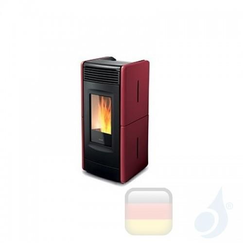 Ravelli Pelletofen VITTORIA V 10.6 kW Beschichtungstyp keramic Bordeaux A+ Belüftet Ravelli-029-KIT-BDX