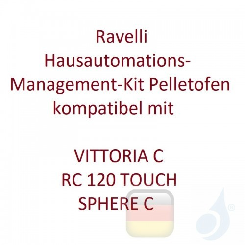 Ravelli Hausautomations-Management-Kit Pelletofen kompatibel mit VITTORIA C - RC 120 TOUCH - SPHERE C Ravelli-KIT-DOM-2FLOW