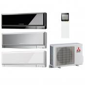 Klimageräte Mono Split Mitsubishi Electric R410A 18000 BTU Serie Kirigamine ZEN MSZ-EF50VE+MUZ-EF50VE weiss 5,0 KW Wärmepumpe