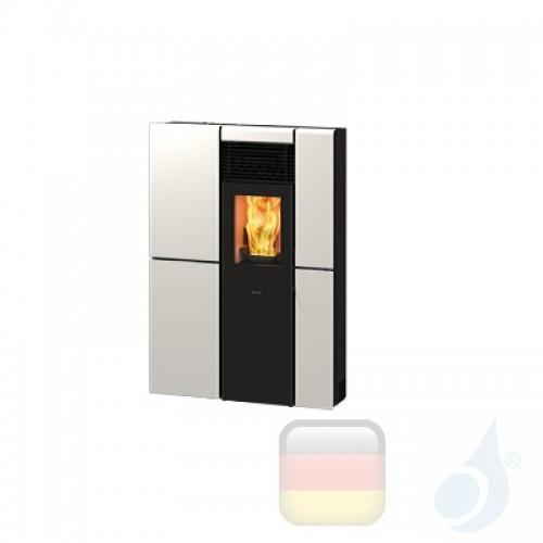 Ravelli Pelletofen OLIVIA STEEL 8.4 kW Beschichtungstyp metal Weiß A+ Ductable Ravelli-071-00-005A-BCO