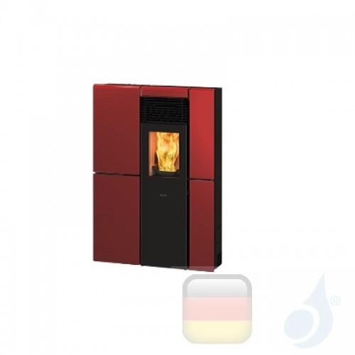 Ravelli Pelletofen OLIVIA STEEL 8.4 kW Beschichtungstyp metal Bordeaux A+ Ductable Ravelli-071-00-005A-BDX