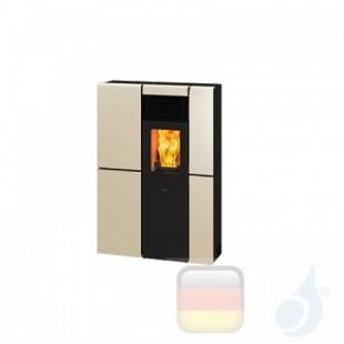 Ravelli Pelletofen OLIVIA STEEL 8.4 kW Beschichtungstyp metal Perlweiss A+ Ductable Ravelli-071-00-005A-PRL