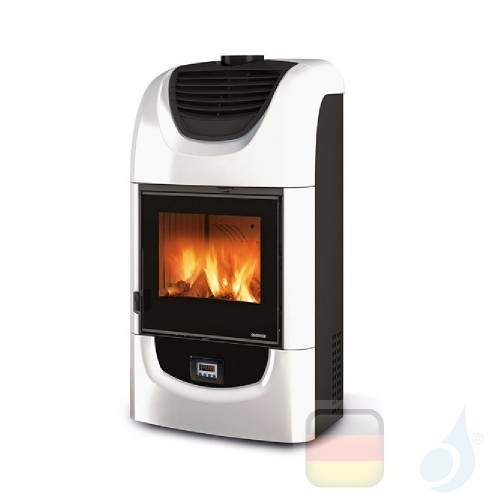 La Nordica Holzöfen Wanda Evo 8.5 kW Keramic Weiß serie Top Design 7117010 A+ Extraflame Nord-Extra-7117010