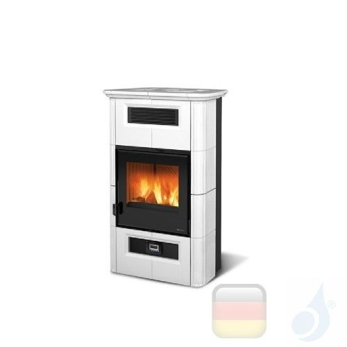 La Nordica Holzöfen Wanda Classic Evo 8.5 kW Keramic Weiß serie Top Design 7117014 A+ Extraflame Nord-Extra-7117014