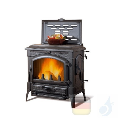 La Nordica Holzöfen Isotta Cerchi Evo 11.9 kW Gusseisen Schwarz serie Emailliertes Gusseisen 7119111 A+ Extraflame Nord-Extra...