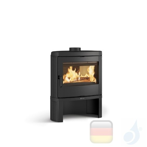 La Nordica Holzöfen Jennifer 7.5 kW Gusseisen Schwarz serie Emailliertes Gusseisen 7119600 A+ Extraflame Nord-Extra-7119600