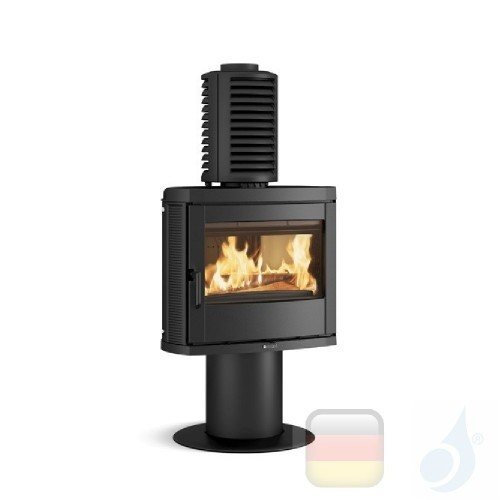 La Nordica Holzöfen Jennifer PRS 8.0 kW Gusseisen Schwarz serie Emailliertes Gusseisen 7119610 A+ Extraflame Nord-Extra-7119610
