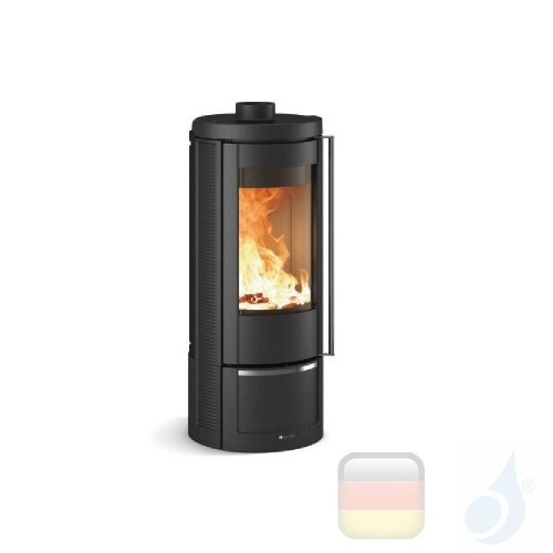 La Nordica Holzöfen Marlena 7.5 kW Gusseisen Schwarz serie Emailliertes Gusseisen 7119350 A+ Extraflame Nord-Extra-7119350