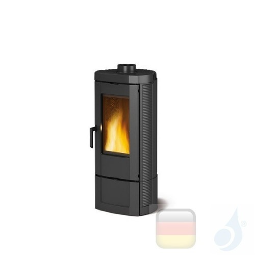 La Nordica Holzöfen Candy 4.0 6.2 kW Gusseisen Schwarz serie Emailliertes Gusseisen 7119301 A+ Extraflame Nord-Extra-7119301