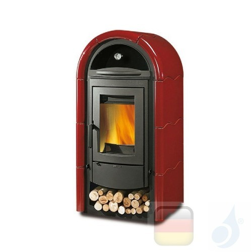 La Nordica Holzöfen mit Backofen Stefany Forno Bll 10.6 kW Gusseisen Bordeaux serie Armony 7113430 A+ Extraflame Nord-Extra-7...